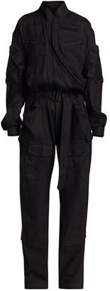 TRE by Natalie Ratabesi Linen-Blend Belted Jumpsuit