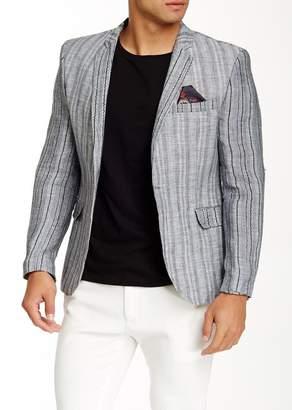 TR Premium Solid Velvet One Button Peak Lapel Slim Fit Blazer
