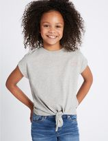 Marks and Spencer Pure Cotton Tie Front Top (3-14 Years)