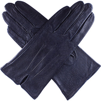 Dents Peccary-effect leather gloves