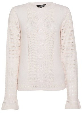 Dorothy Perkins Womens Pink Lace Front Panel Jumper, Pink