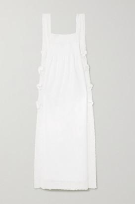 Loretta Caponi Lace-trimmed Cotton Nightdress - White