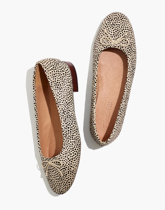 Madewell The Adelle Ballet Flat in Spot Dot Calf Hair