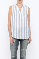 Bacio Stripe Sleeveless Top
