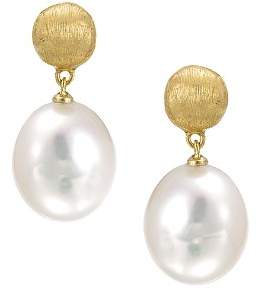 "Marco Bicego Africa Pearl Collection"" 18K Yellow Gold and Pearl Drop Earrings"
