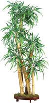 Asstd National Brand Mini Bamboo Palm Silk Plant with Decorative Vase