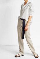 Victoria Beckham Linen Pants with Belt Tie