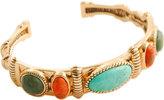 Barse Women's Bronze/Multi Stone Cuff Bracelet SPCEB02MUB