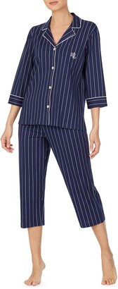 Lauren Ralph Lauren Knit Crop Cotton Pajamas