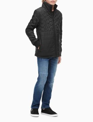 Calvin Klein Boys Hexagon Logo Patch Zip Jacket