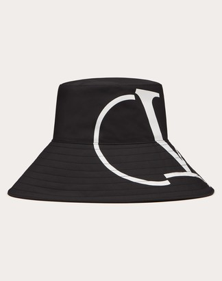 Valentino Vlogo Signature Bucket Hat Women Black/white Polyester 100% M