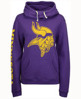 Junk Food Clothing Women's Minnesota Vikings Logo Funnel Hoodie