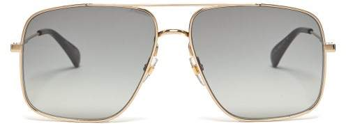 Givenchy Gv 7119/s Aviator Metal Sunglasses - Mens - Gold