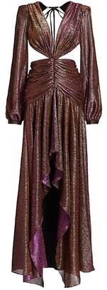 PatBO Metallic Cutout Gown