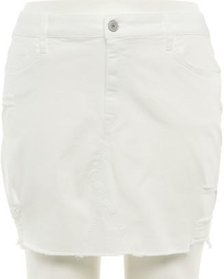Juniors' Plus Size SO 5 Pocket Denim Skirt