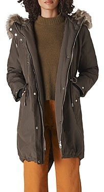 Whistles Faux Fur Trimmed Casual Parka