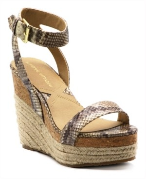 Adrienne Vittadini Women's Cari Platform Wedge Sandals Women's Shoes