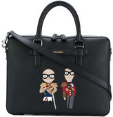 Dolce & Gabbana stylists patch briefcase - men - Calf Leather - One Size