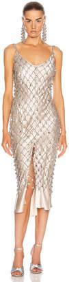 Paco Rabanne Crystal Net Dress in Nickel | FWRD