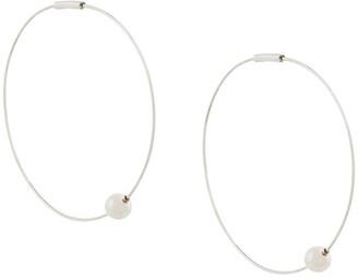 E.m. hoop earrings