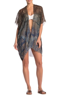 Pool To Party Dig Tree Kimono Cover-Up
