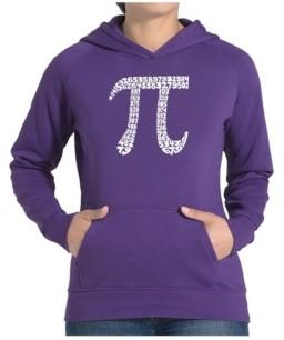 LA Pop Art Women's Word Art Hooded Sweatshirt -The First 100 Digits Of Pi