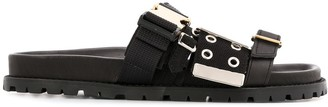 Sacai Three Buckle Straps Sandals