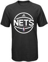 adidas Boys 8-20 Brooklyn Nets climalite Practice Tee