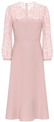 Valentino Lace and crepe dress