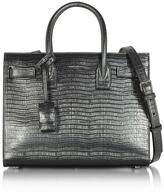 Saint Laurent Laminated Croco Embossed Leather Classic Baby Sac De Jour Bag