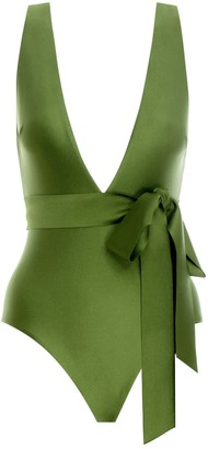 Zimmermann Empire Tie Waist Plunge 1 Pc