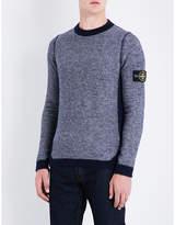Stone Island Reversed-effect wool-blend jumper