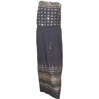 Calypso St. Barth Grey Linen Dress for Women