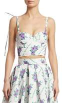 Rosie Assoulin Pintucked Floral Bustier