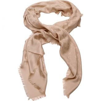Louis Vuitton Chale Monogram Beige Cotton Scarves