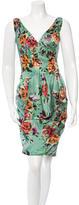 Lela Rose Floral Printed Dress