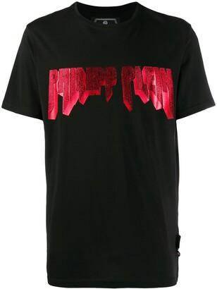 Philipp Plein sequinned logo T-shirt