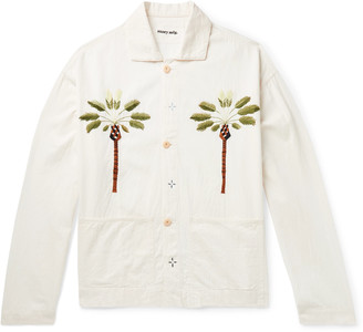 Story mfg. Short On Time Embroidered Organic Cotton-Twill Chore Jacket
