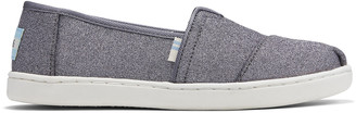 Toms Youth Pewter Glitter Alpargata