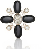 St. John Signature Pearl Brooch with Crystals