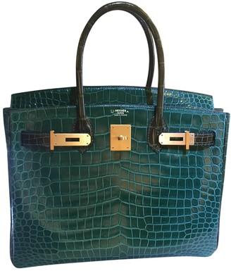 Hermes Birkin 30 Green Crocodile Handbags