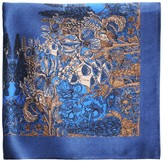 The Floral Pocket Square Midnight Blue