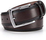 Daniel Cremieux Small Pane Inlay Leather Belt