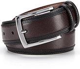 Daniel Cremieux Small Pane Inlay Leather Belt