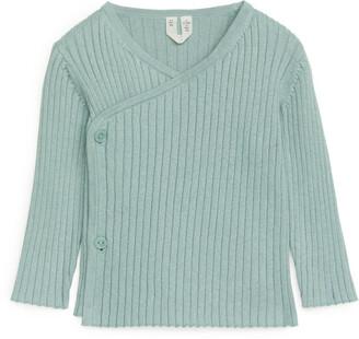 Arket Cotton Wool Wrap Cardigan