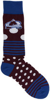 For Bare Feet Colorado Avalanche Dots and Stripes 538 Socks
