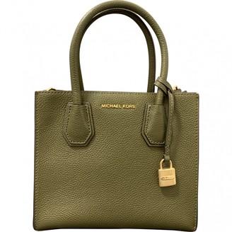 Michael Kors Mercer Green Leather Handbags