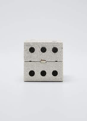 Judith Leiber Couture Cube Dice Box Clutch Minaudiere