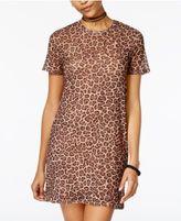 Material Girl Juniors' Mesh Overlay Slip Dress, Only at Macy's