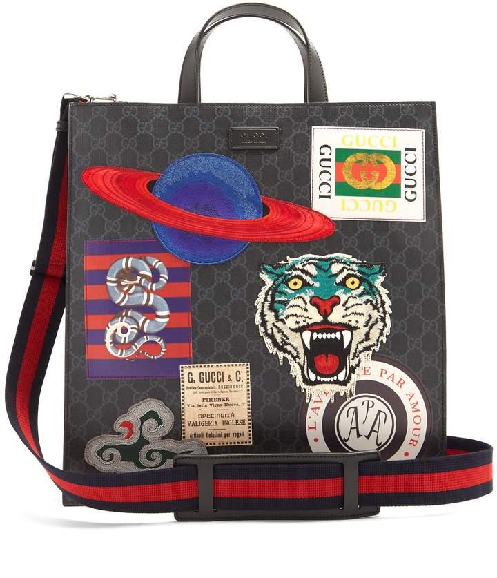 Gucci GG Supreme badge-appliqué tote bag